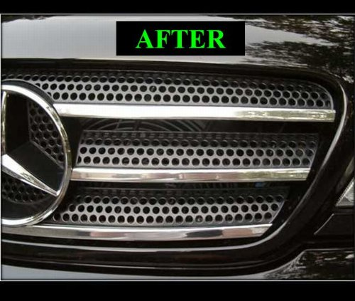 Mercedes w163 ml 1998 2005 chrome grille grill kit 1999 for Mercedes benz custom grills