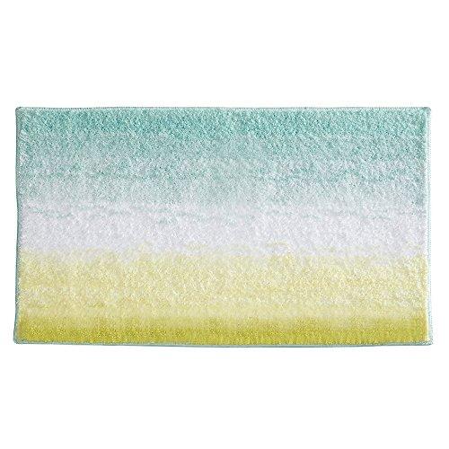 InterDesign Stripz Microfiber Bath Rug, 34 x 21-Inch, Ombre, Mint (Olive Green Chenille)