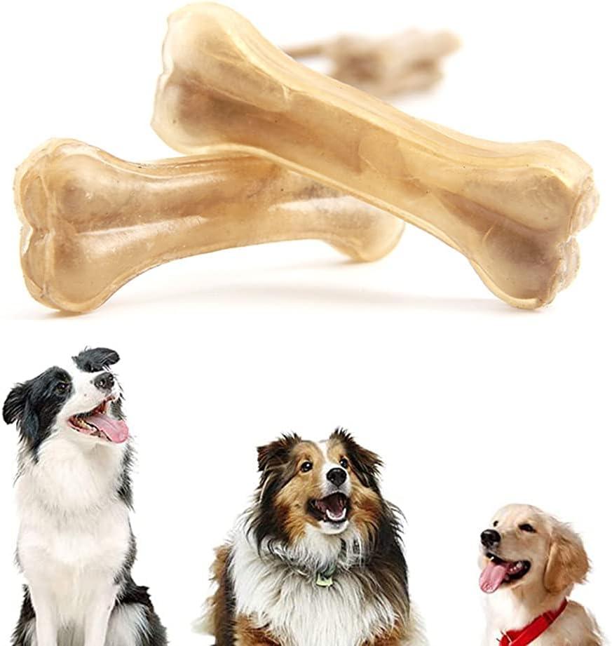 Juguete masticable para Perros con Palo de Hueso de Piel de Vaca, los Perros Pueden Comer los Ingredientes de la Piel Interna de búfalo, Adecuado para Perros medianos y Grandes