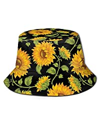 CHILL·TEK Unisex Bucket Hats, Sunflower Bucket Hat Outdoor Camping Fishing Rain Safari Boonie Cap