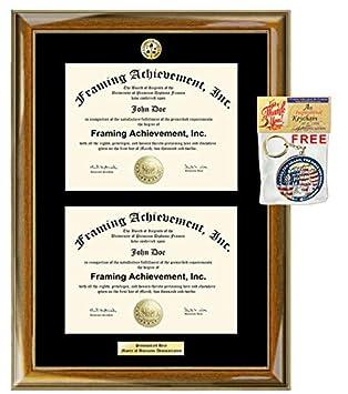 Amazon.com: Escudo con doble marco de certificado de doble ...