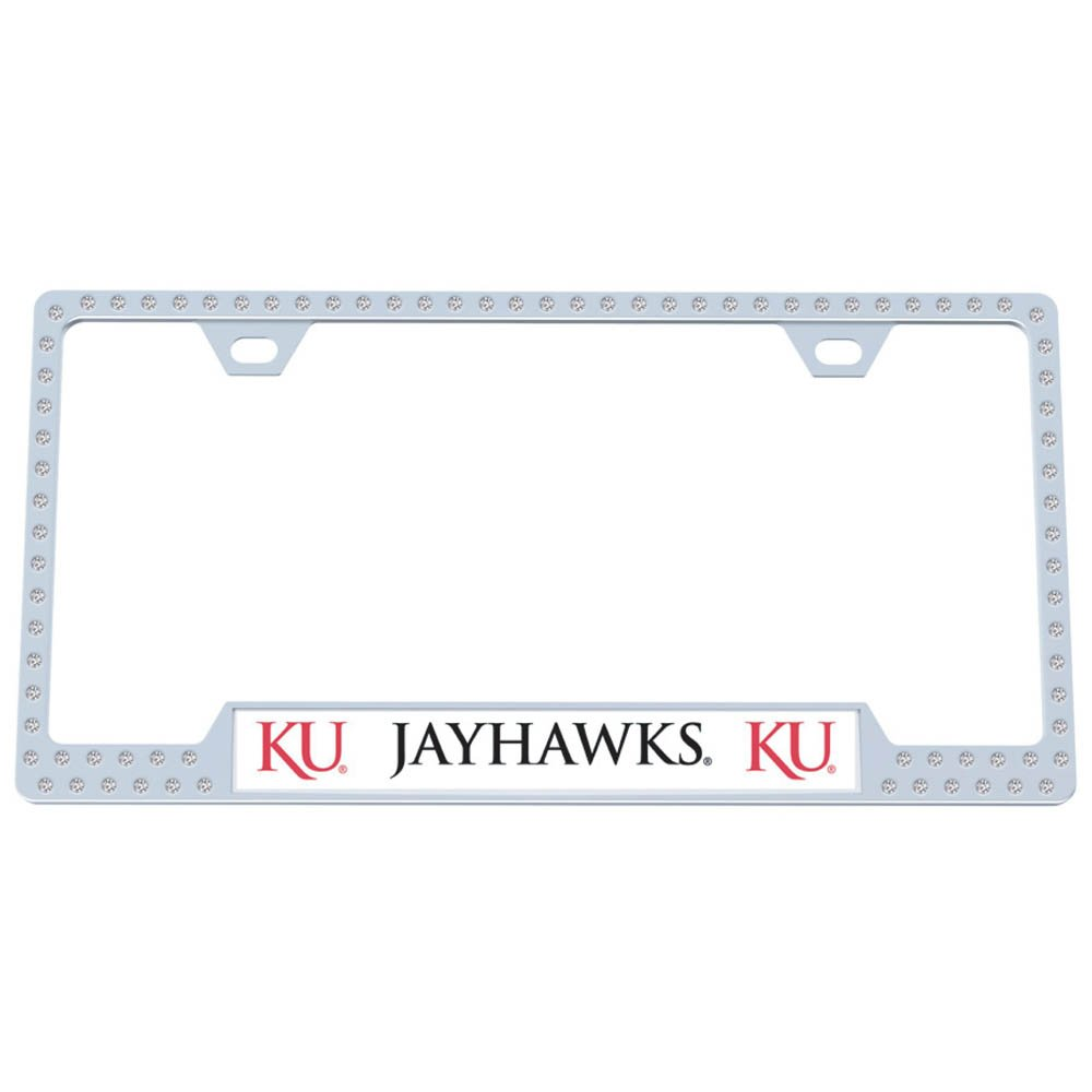 Kansas Jayhawks Logo Crystal Mirror License Plate