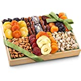 gift basket dried fruit - Golden State Fruit Pacific Coast Deluxe Dried Fruit Tray with Nuts Gift