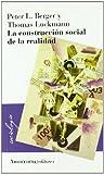 Construccion Social de la Realidad La, Berger Peter y Luckmann Thom, 9505180098