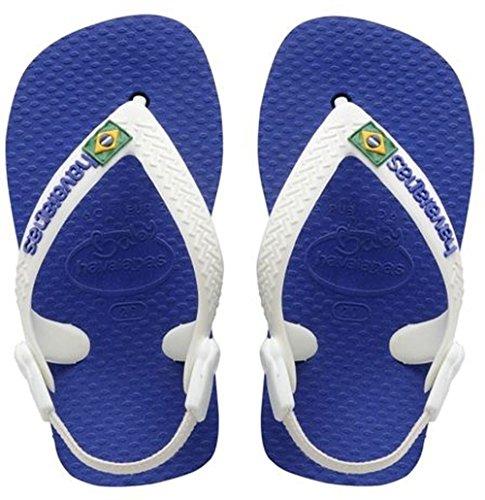 Bambini Havaianas Baby Sandali Unisex – Blu Brasil Logo Blue marine 2711 xppfYqwUB