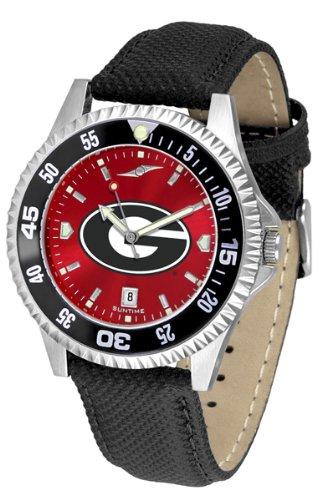 (Georgia Bulldogs Competitor AnoChrome Men's Watch - Color Bezel)