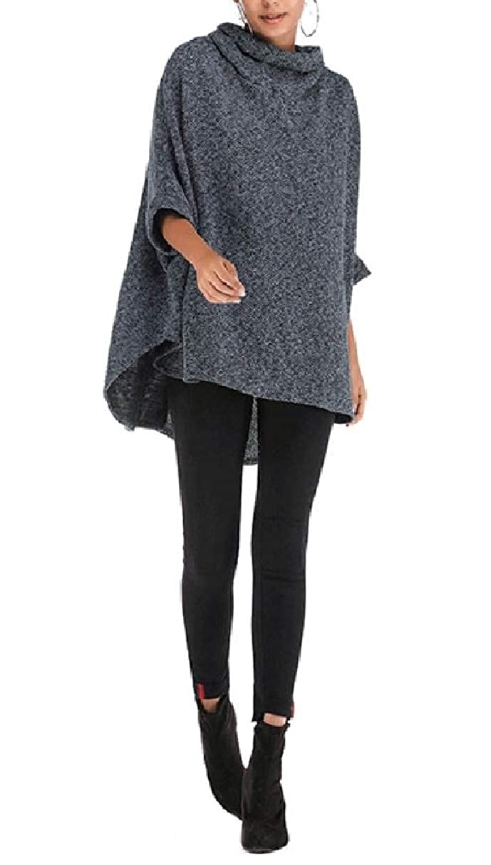 Coolred-Women Loose 3//4 Sleeve Style Solid-Colored Long Sweatshirt