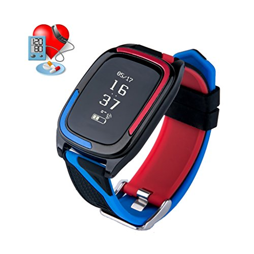 (Baoduohui Fitness Tracker, Bluetooth 4.0 Waterproof Smart Bracelet Bands Sport Watch Waistband with Heart Rate Monitor and Blood Pressure Monitor for iPhone Android Smartphone (Color : Blue))