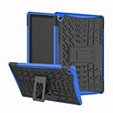 MediaPad M5 10 10.8 Inch Hybrid Case DWaybox Rugged Heavy Duty Hard Back Case Cover with Kickstand for HUAWEI MediaPad M5 10 10.8 Inch CMR-AL09/CNR-W09 (Blue)