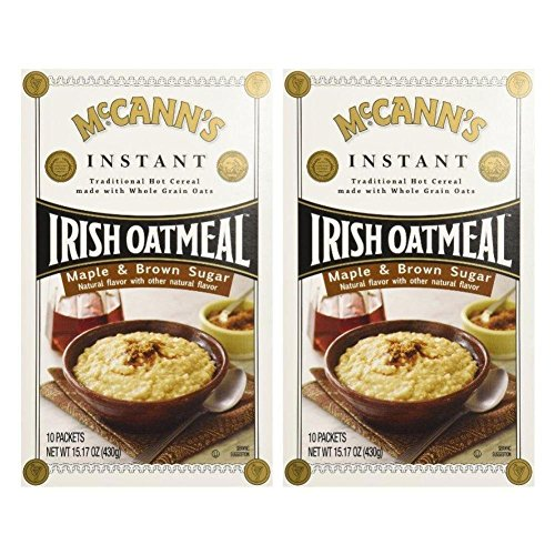 McCann's Irish Oatmeal Maple & Brown Sugar -- 10 Packets (Pack of 2)