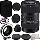 Sigma 18-35mm f/1.8 DC HSM Art Lens for Canon Bundle Includes Metabones T Speed Booster XL 0.64x Adapter for Full-Frame Canon EF-Mount Lens to Select Micro Four Thirds-Mount Cameras + Manufacturer Accessories + 3PC Filter Kit + Microfiber Cleaning Cloth