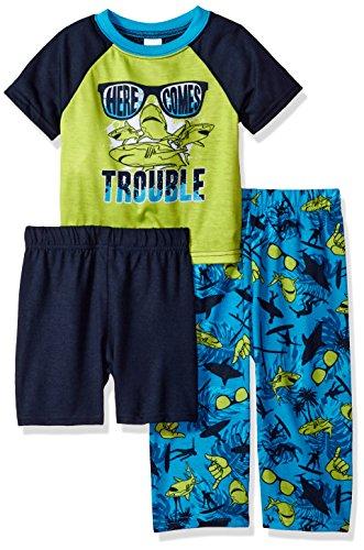 The Children's Place Baby Girls' 3-Piece Pajama Set, Lime Splash 81702, (Lime Splash)