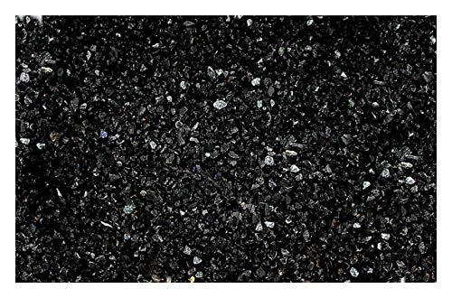 1/2 Ounce Natural No Dye Natural NO POWDER Black Onyx Agate Inlay Chip 2mm &l ess