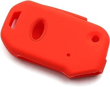 LIGHTKOREA Fob Remote Smart Key Case Protector Silicone Cover Compatible with Kia Sportage Cerato Forte Sports GT Sorento Soul NIRO Seltos Telluride Pink