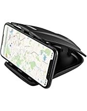 Mpow Soporte Móvil Coche , Soporte Móvil para Coche para Salpicadero, Soporte Móvil Pinza, para iPhone XR/XS Max/X/8/7/6, Samsung Galaxy S10/S9/S8/S7/S6, Huawei, Xiaomi, Navman GPS, etc.