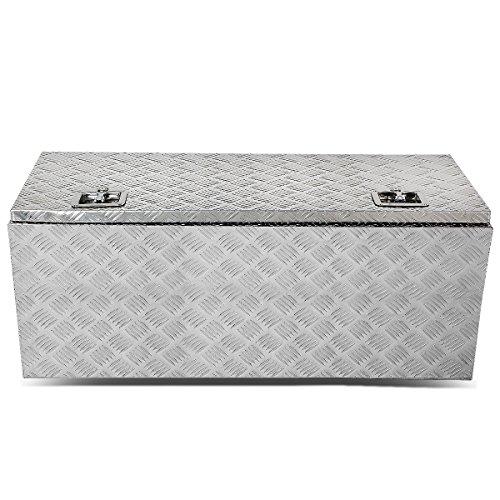 DNA Motoring TBOX-T2-42-ALU Rear Truck Bed Trailer Key Lock Aluminum Storage Tool Box