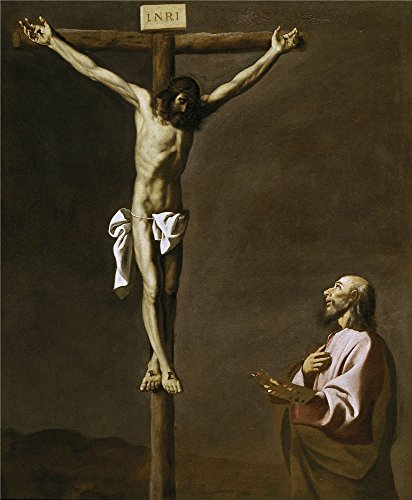 Oil Painting 'Zurbaran Francisco De Saint Luke As A Painter Before Christ On The Cross 1630 39' 20 x 24 inch / 51 x 62 cm , on High Definition HD canvas prints, gifts for Bar, Basement And Stu decor