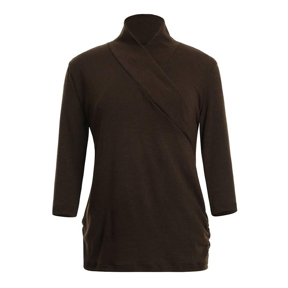 12a8892fe Cinnamou Blusas de Mujer Lactancia con Parte Delantera Cruzada