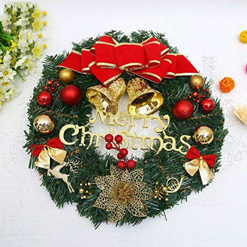 2018 the new large merry christmas wreath for front door wall windows garland home office wall - Christmas Decorations For Front Windows