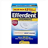 Efferdent PM Overnight Anti-Bacterial Denture Cleanser Tablets 90 ea (Pack of 12)