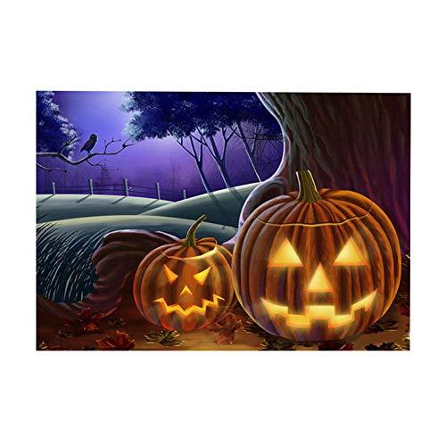 YESIDO Halloween 5D DIY Diamond Painting Diamond Painting Kit Carton Adults Rhinestone Embroidery Cross Stitch Set Arts Craft Gift (30x40cm, Halloween) -