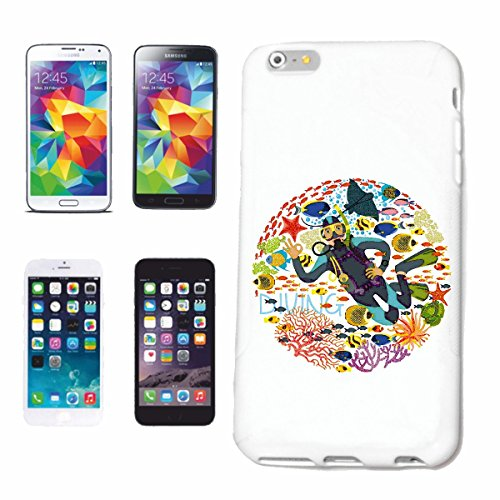 """cas de téléphone iPhone 7 """"DIVER LOGO plonger plongeur ÉQUIPEMENT PLONGÉE PLONGÉE"""" Hard Case Cover Téléphone Covers Smart Cover pour Apple iPhone en blanc"""