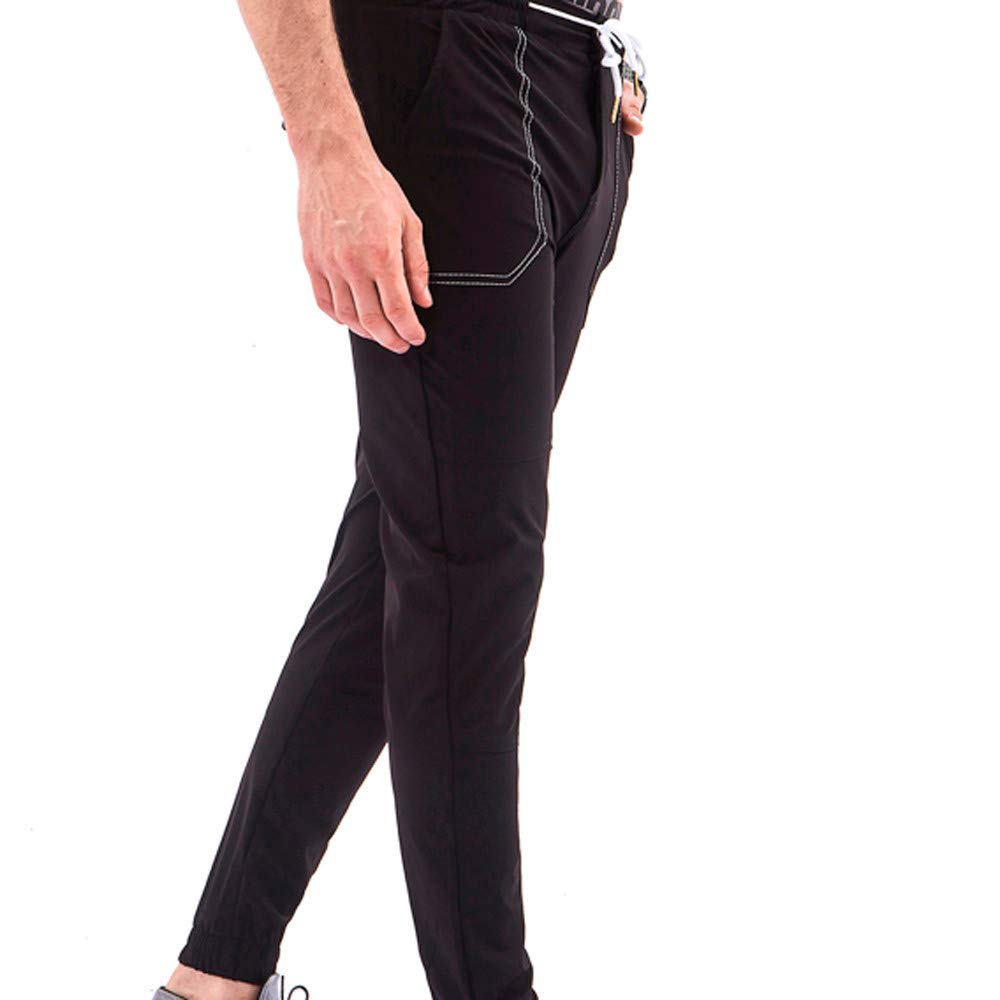 ZhixiaYS Men Pocket Overalls Casual Pocket Sport Work Activewear Pants Drawstring