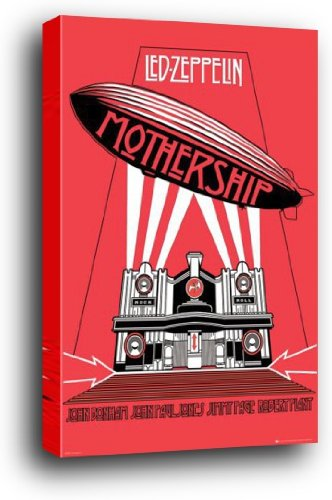 1art1 Led Zeppelin Wood Mounted Poster - Mothership