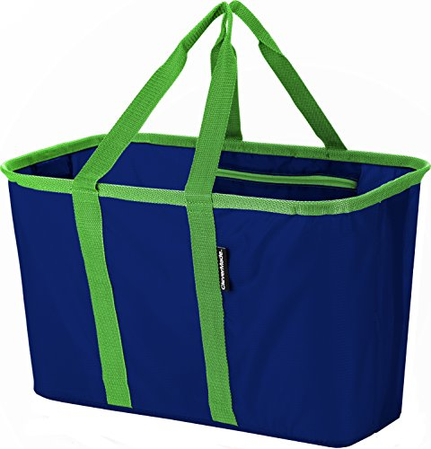 CleverMade SnapBasket Collapsible Shopping Basket/Grocery Ba