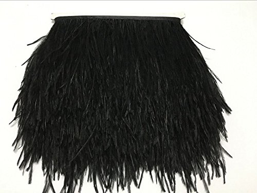 ADAMAI Natural Ostrich Feathers Trims Fringe DIY Dress Sewing Crafts Costumes Decoration Pack of 2 Yards - Trim Boa Feather