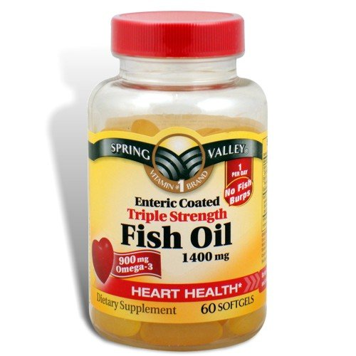 Compare price to omega 3 1400mg spring valley for Fish oil 1400 mg