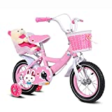 Kids Bike 2-10 Year Old Girls Children's Baby Adjustable Bicycle Enhanced Tyres Female Safe Comfortable For Toddlers Balance Bike Fashion Gift