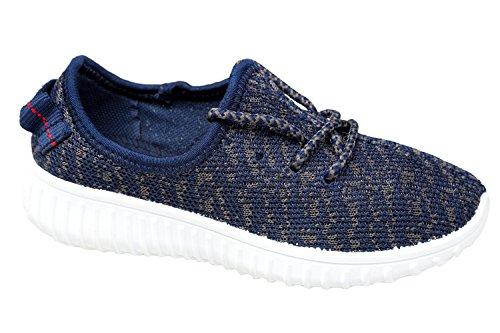 gibra - Zapatillas de tela para niño Azul - azul oscuro