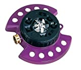 Dramm 15026 ColorStorm 9-Pattern Turret Sprinkler with Heavy-Duty Metal Base, Berry