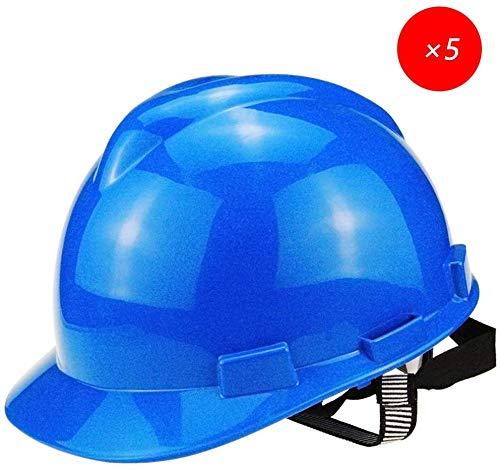 Casco con trinquete antideslizante, casco duro azul ABS, casco ...