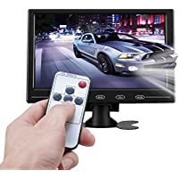 ATian 9 HD TFT LCD Color 1080p 1080x720 HIGH Resolution HDMI Monitor,Portable 16:9 TFT LCD Mini HD Color Video Screen Support VGA BNC AV Input for PC CCTV Home Security