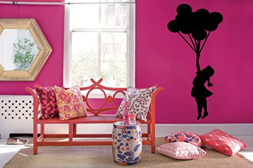 Wall Decal Sticker Bedroom Girl Baloons Fly Sky Beautiful Kids Girls Boys Teenager Room 552b]()