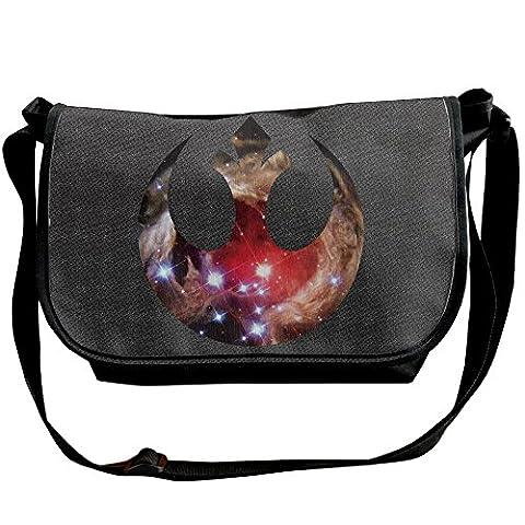 Amurder Personalized Star Wars Rebel Alliance Logo Messenger Shoulder Bag Black (Star Wars Rebel Bag)