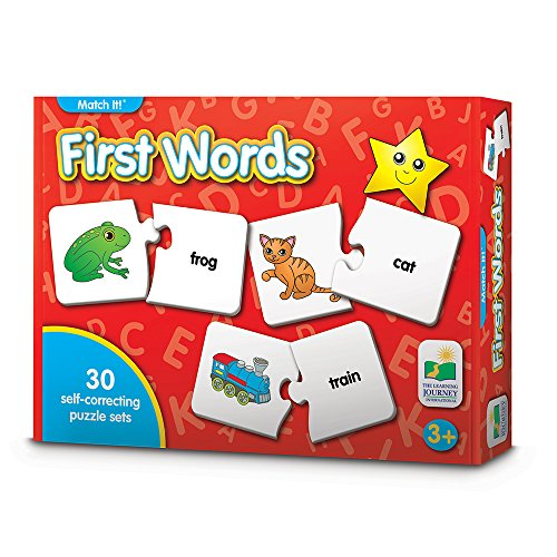 Word Match - The Learning Journey Match It! - First Words - 30 Self-Correcting Words with Matching Images For Emerging Readers