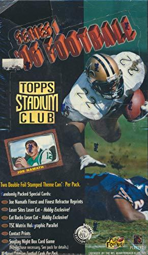 Topps 1996 Stadium Club Football Box