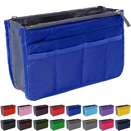 (Handbag Organizer by Gaudy Guru - Insert Purse Organizer - Bag in Bag - 13 Pockets - Multiple Colors (Royal Blue))