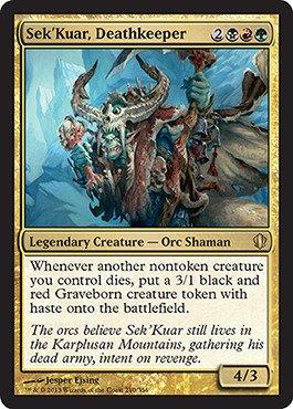 Magic: the Gathering - Sek'Kuar, Deathkeeper (210/356) - Commander 2013