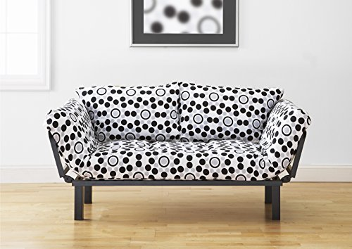 Best Futon Lounger - Versatile Positions - Sit Lounge Sleep - Smaller Size Piece of Furniture is Perfect for Bedroom Studio Apartment Guest Room Covered Patio Porch (BUBBLES)