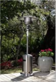 Fire Sense 46,000 BTUXL-Series (Stainless Steel) Patio Heater with Wheels (Propane)