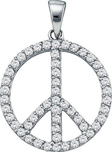 Or blanc 14 carats Diamant Fashion - 0,80 Dwt-JewelryWeb