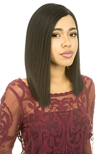 [Lace Front Wig] Magic Lace Natural Curved Part Wig Synthetic Full Wig - MLC200 (1B) (Magic Wig)