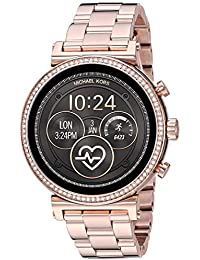 Women's Sofie Heart Rate' Touch-Screen Smartwatch with Stainless-Steel Strap, Rose Gold, 18 (Model: MKT5063)