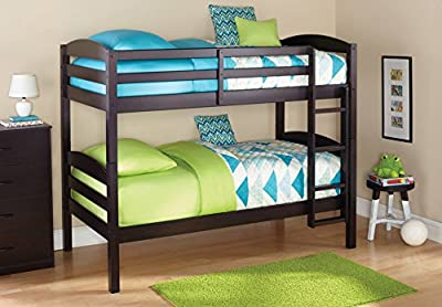 Black Standard Twin Design Wood Bunk Bed