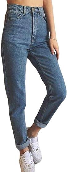 FRPE Womens Plus Size Baggy Loose Drawstring Harem Denim Pants