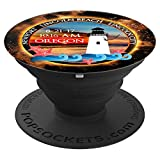 Lincoln Beach Newport Oregon Commemorative 2017 Eclipse - PopSockets Grip and Stand for Phones and Tablets